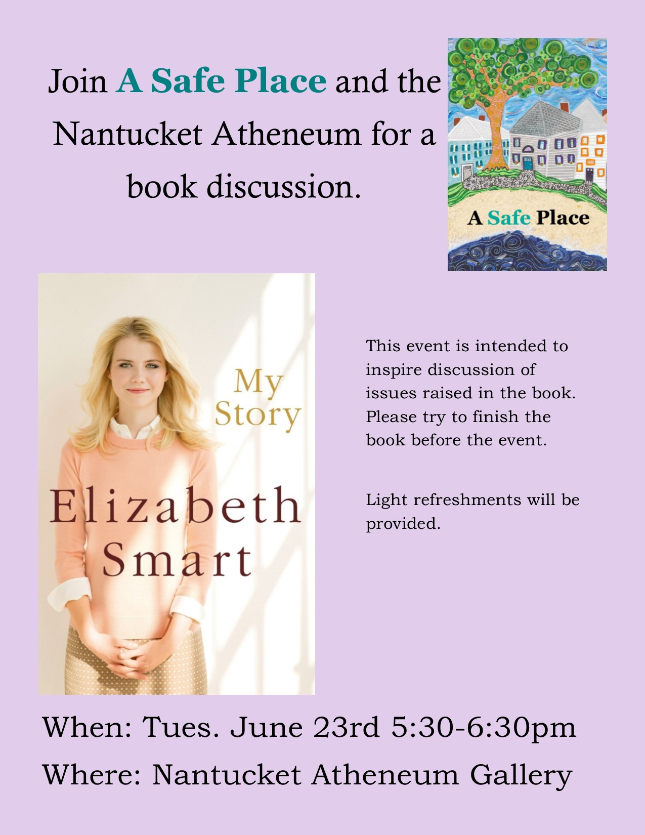 June Book Discussion – My Story by Elizabeth Smart