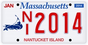 Nantucket license plate
